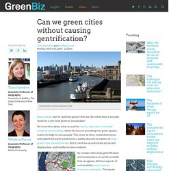 Can we green cities without causing gentrification?