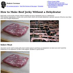 How to Make Beef Jerky Without a Dehydrator - Modern Caveman