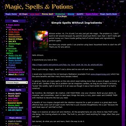 Simple Spells Without Ingredients