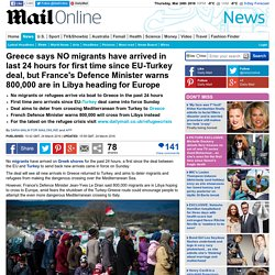 Greece marks first day without migrant arrivals after EU-Turkey deal