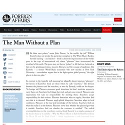 The Man Without a Plan