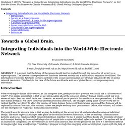 Towards a Global Brain