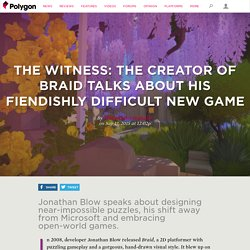 The Witness: the creator of Braid talks about his fiendishly difficult new game