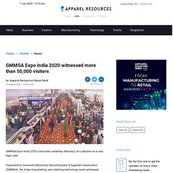 GMMSA Expo India 2020 witnessed more than 50,000 visitors