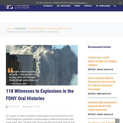 118 Witnesses to Explosions in the FDNY Oral Histories