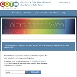 Color Wizard - Color Scheme Generator - Colors on the Web