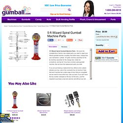 5' Wizard Spiral Gumball Machine Parts @ Gumball.com