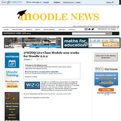 @WiZiQ Live Class Module now works for Moodle 2.0.2