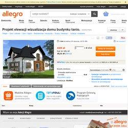 Projekt elewacji wizualizacja domu budynku tanio. (4938347945)