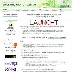 WJF - Launcht Crowdfunding