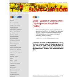 Wladimir Glasman fait l'apologie des terroristes