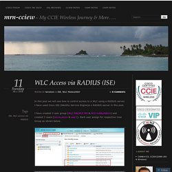 WLC Access via RADIUS (ISE)