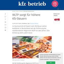 WLTP sorgt für 40 Prozent höhere Kfz-Steuer