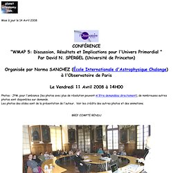 wmap 5 ans Spergel obs Paris 11 avril 2008