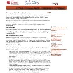 Jak napisać dobry Wniosek o dofinansowanie - Fundusz NGO