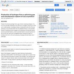 Brevet WO2010066972A1 - Production d'hydrogène à partir d'un gaz de reformage et la capture simultanée de co2 ... - Google Brevets