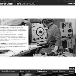 Wobbulator : Recreating the sounds of the BBC Radiophonic Workshop