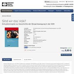 Wochenschau Verlag - Sind wir das Volk? - Schule & Unterricht