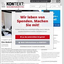 KONTEXT:Wochenzeitung - Ausgabe 419 - Die Wahrheit unter Zeitdruck