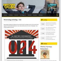Woensdag actiedag - live - Vox magazine