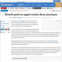 Woerth perd en appel contre deux journaux