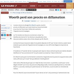 Flash Eco : Woerth perd son procès en diffamation