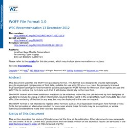 WOFF File Format 1.0