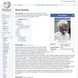 Wole Soyinka prix Nobel Lit. nigérien