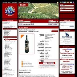 Wein / Deutschland / Baden / Wolfenweiler Schwarzer Wolf - Spätburgunder Trocken 2014 0,75 ltr.