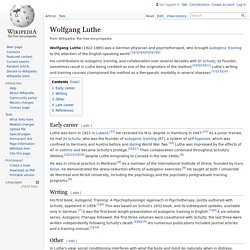 Wolfgang Luthe