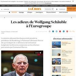 Les adieux de Wolfgang Schäuble à l'Eurogroupe - La Croix