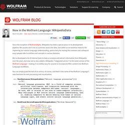 New in the Wolfram Language: WikipediaData—Wolfram Blog