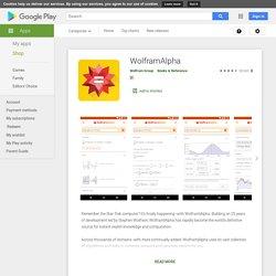 WolframAlpha - Apps on Google Play