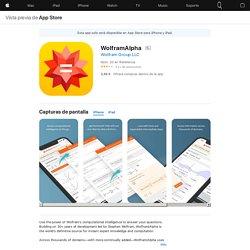 WolframAlpha en AppStore