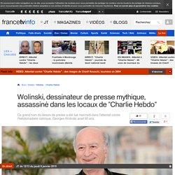 """Wolinski, dessinateur de presse mythique, assassiné dans les locaux de """"Charlie Hebdo"""""""