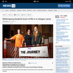 Wollongong students learn of life in a refugee camp