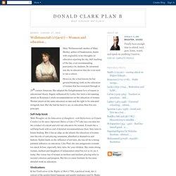 Wollstonecraft (1759-97) – Women and education...