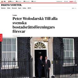 Peter Wolodarski: Till alla svenska bostadsrättsföreningars försvar