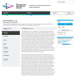 at Design and Art Australia Online