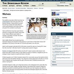 Wolves - Topic page at Spokesman.com