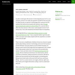 Blog Archive » Woman in technology