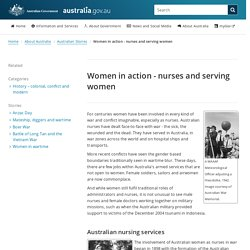 Women in action - nurses and serving women