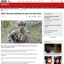 SAS: Women allowed to join for first time