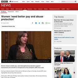 Women 'need better pay and abuse protection'