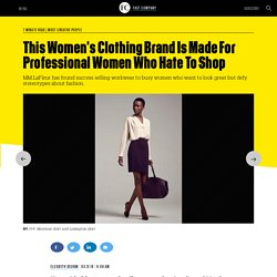 This Women's Clothing Brand Is Made For Professional Women Who Hate To Shop