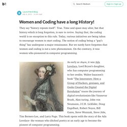 Women and Coding have a long History!