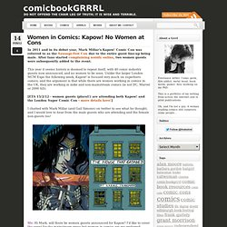 Women in Comics: Kapow! No Women at Cons