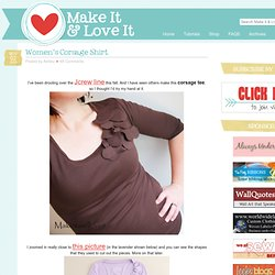Make It and Love It: Women's Corsage Shirt