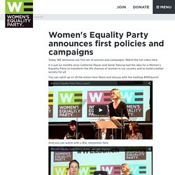 Women's Equality Party launch policies