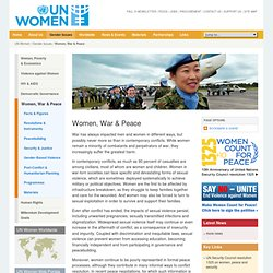 Women, War & Peace - Gender Issues - UNIFEM